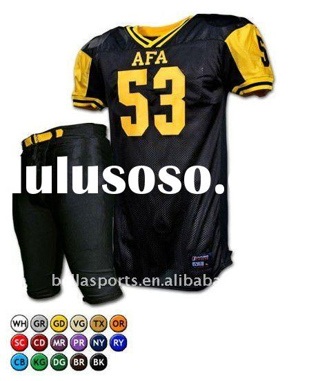 Newest polyester men's American Football Team uniform including american football jersey