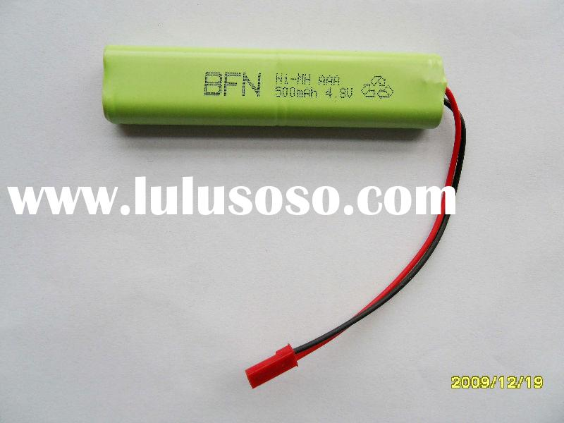 NiMH battery AAA 4.8V 500mAh rechargeable battery pack