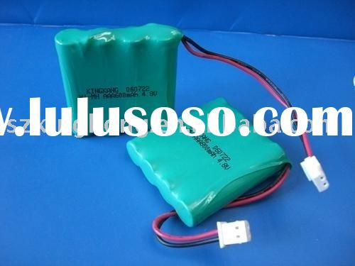 Ni-MH AAA 600mAh 4.8V rechargeable battery pack