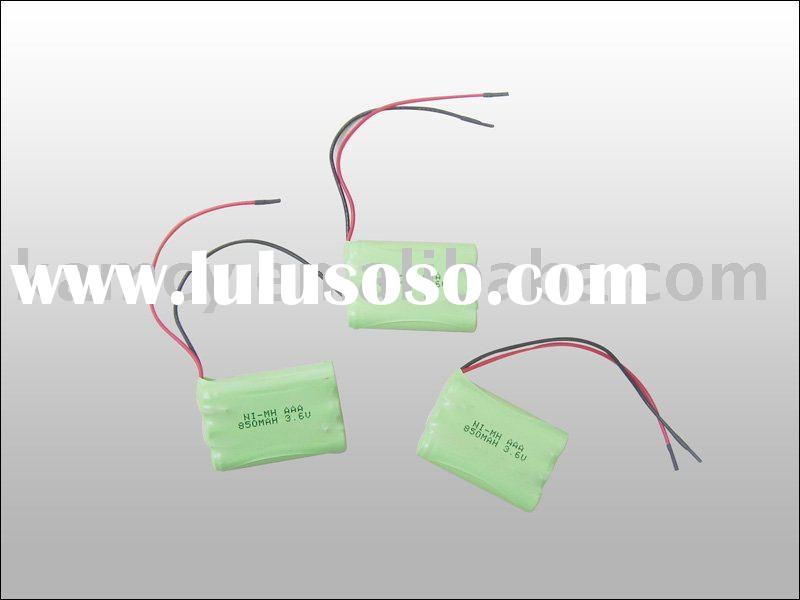 Ni-MH AAA 850mAh 3.6v rechargeable battery pack