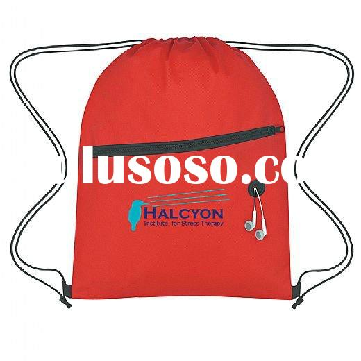 Non-Woven Hit Sports Pack With Front Zipper Drawstring Bag