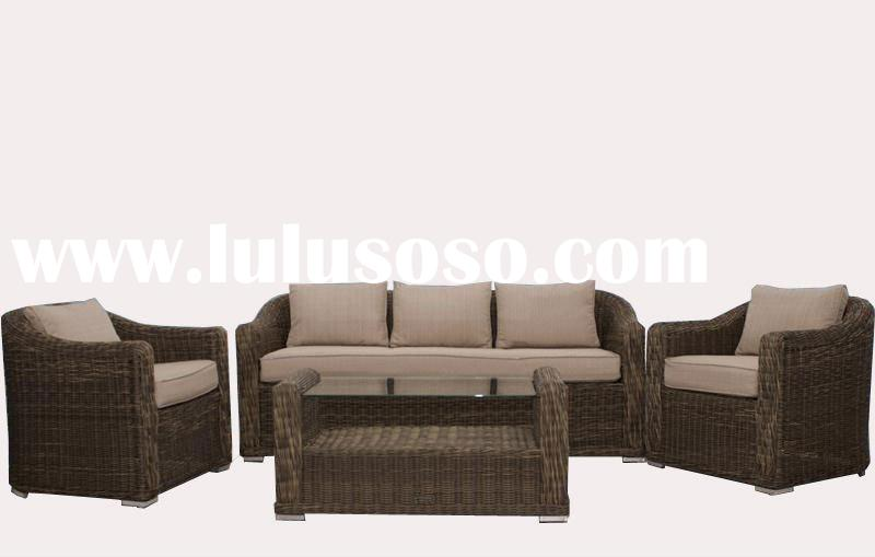 Outdoor Wicker Furniture 4-Piece Sofa Set