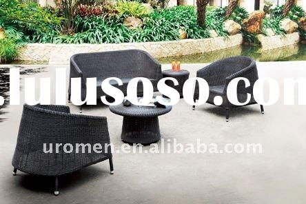 Outdoor aluminum rattan wicker sofa set furniture