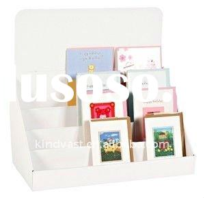 POP display, cardboard greeting card display stand