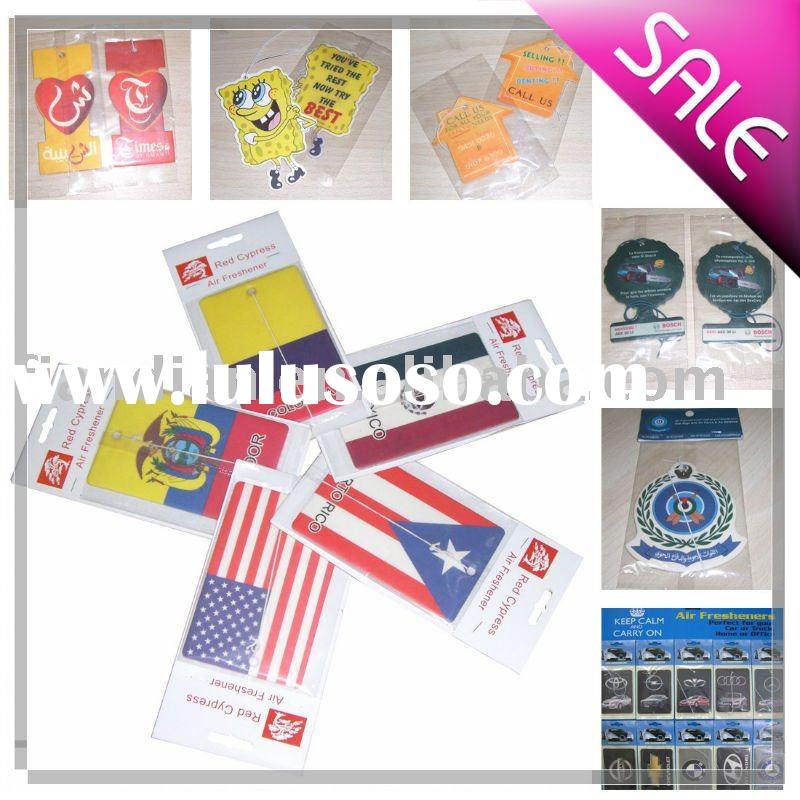 Paper Car Air Freshener For Promotion