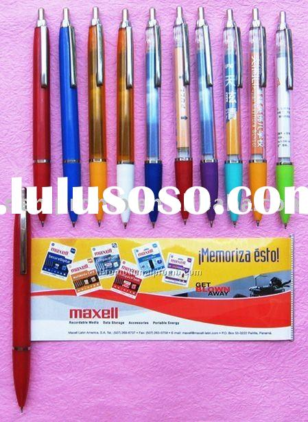 Plastic Advertising Ball Pen with Flyer Calendar