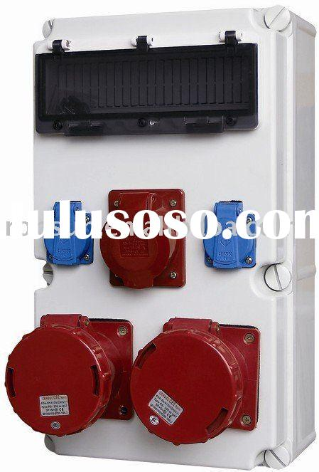 Plastic Distribution Boxes Compact Power box electrical socket box Industrial socket&plug Indust