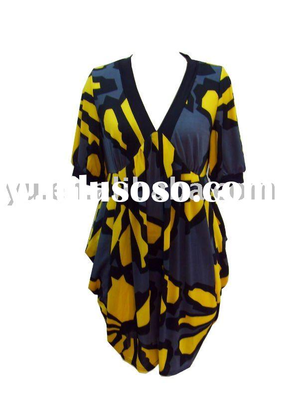 Polyester Plus Size Dress for Women