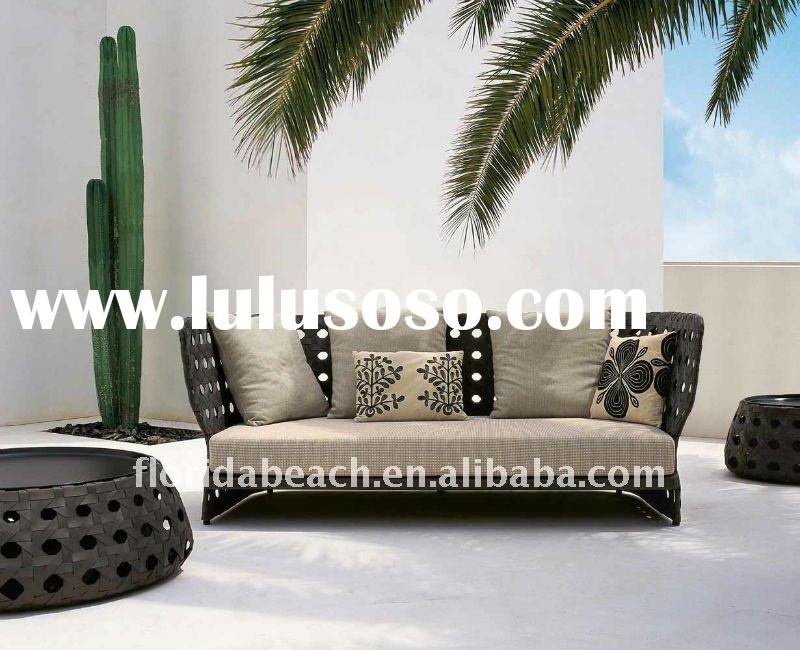 Popular Outdoor PE Rattan and Aluminum frame Sofa & Wicker Furniture