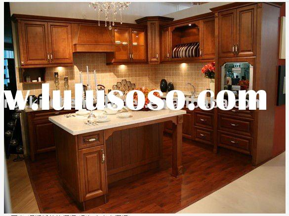 Popular complete solid wood kitchen cabinet 2011