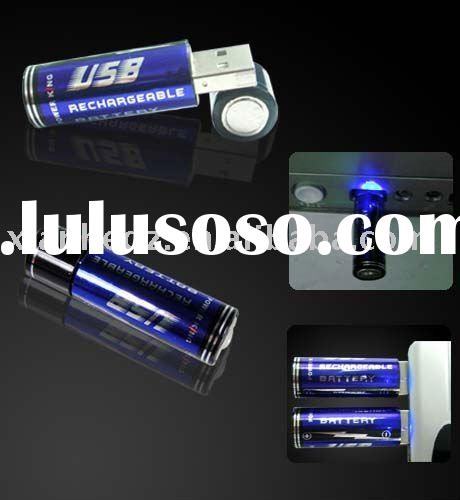 Portable 1.2 V AA size usb 5v rechargeable battery