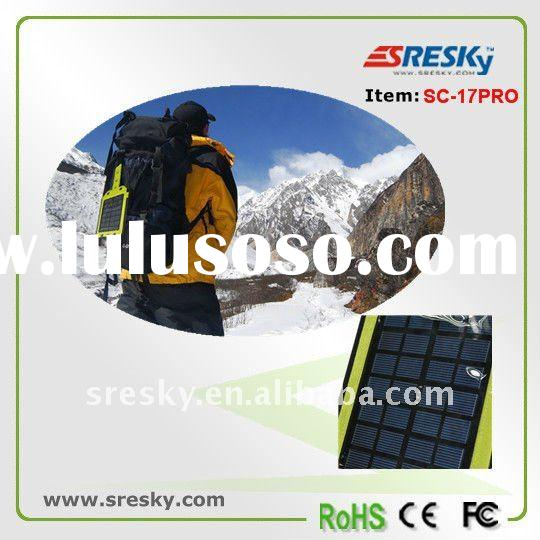 Portable Solar backpack hiking and travelling sun battery charger