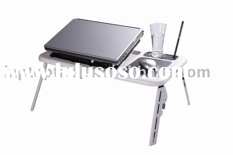 Portable and foldable laptop table with usb fans