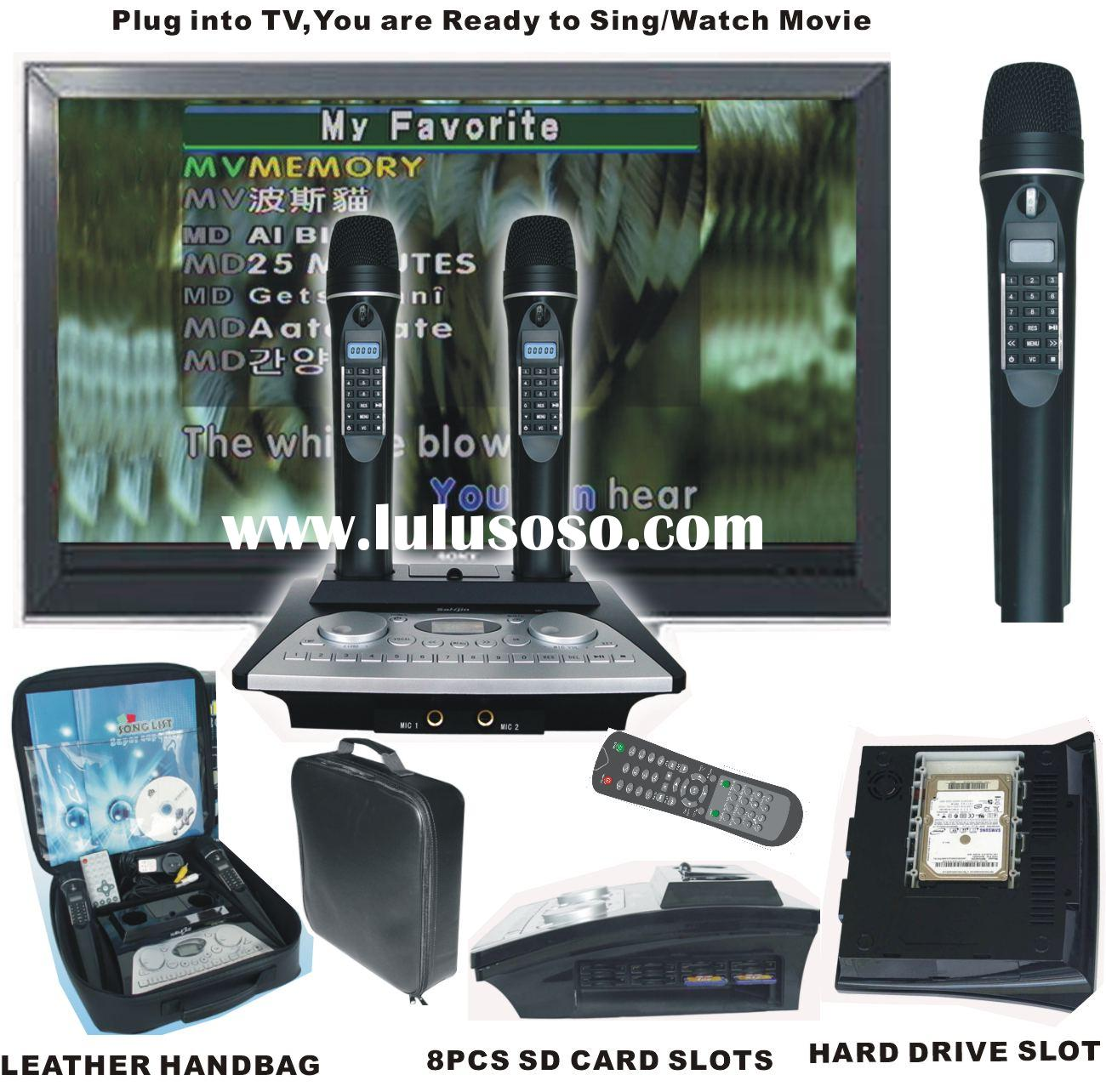 Portable hard disk karaoke system with wireless microphone (KOD-100+MK100)