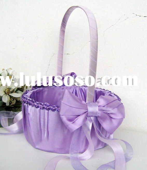 Wedding Flower Girl Basket Basket For Wedding Wedding Favors Wedding