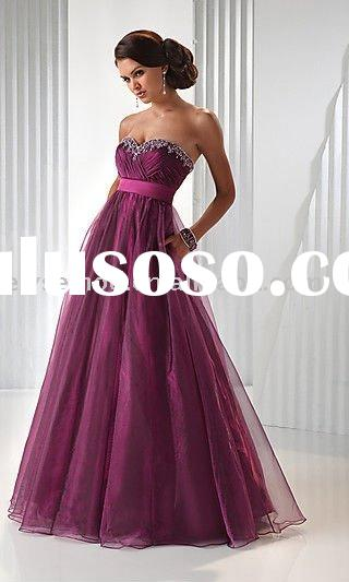 Purple Strapless Tulle Gown by Flirt prom dress Evening dress