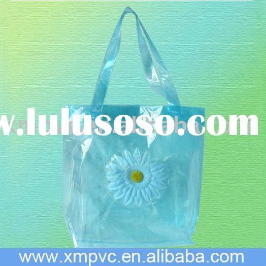 Pvc foldable plastic carry bag for shopping D-H091