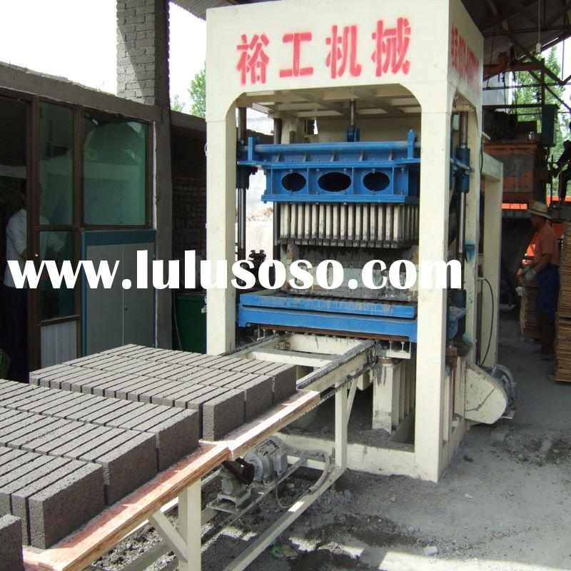 QT10-15 hydraulic pressure hollow brick/block making machine with good after sale service