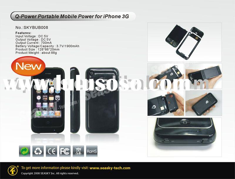 Q-Power Portable Mobile Power for iPhone 3G/ Back up battery for iPhone 3G / Accessories for iPhone