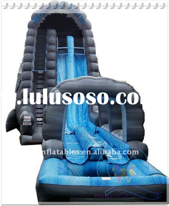 Qi Ling funny long inflatable water slide for kids