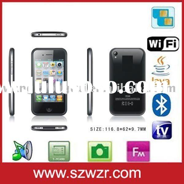 Quad band phone 5 WIFI tv dual sim mobile phone