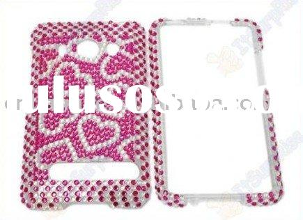RHINESTONE/BLING FULL DIAMOND HARD CASE/FACEPLATE FOR HTC EVO 4G SPRINT Phone(Accept paypal)