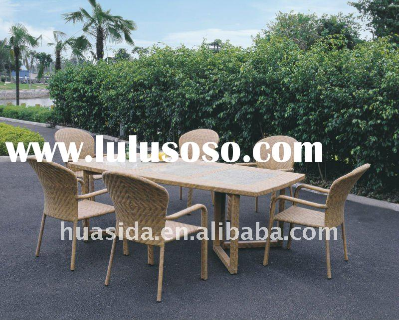 Rattan Furniture Outdoor Rattan Dining Table and Chair billiard table