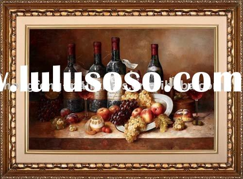 Realist Still Life Oil Painting(Wine Bottle)