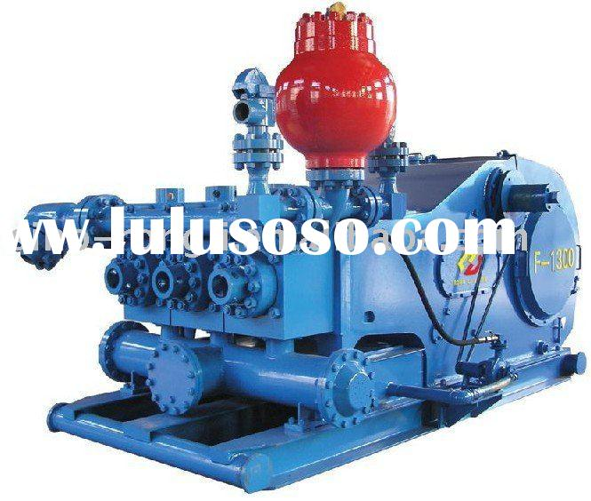 Reciprocating triplex single-acting piston mud pump F -1300 (API)