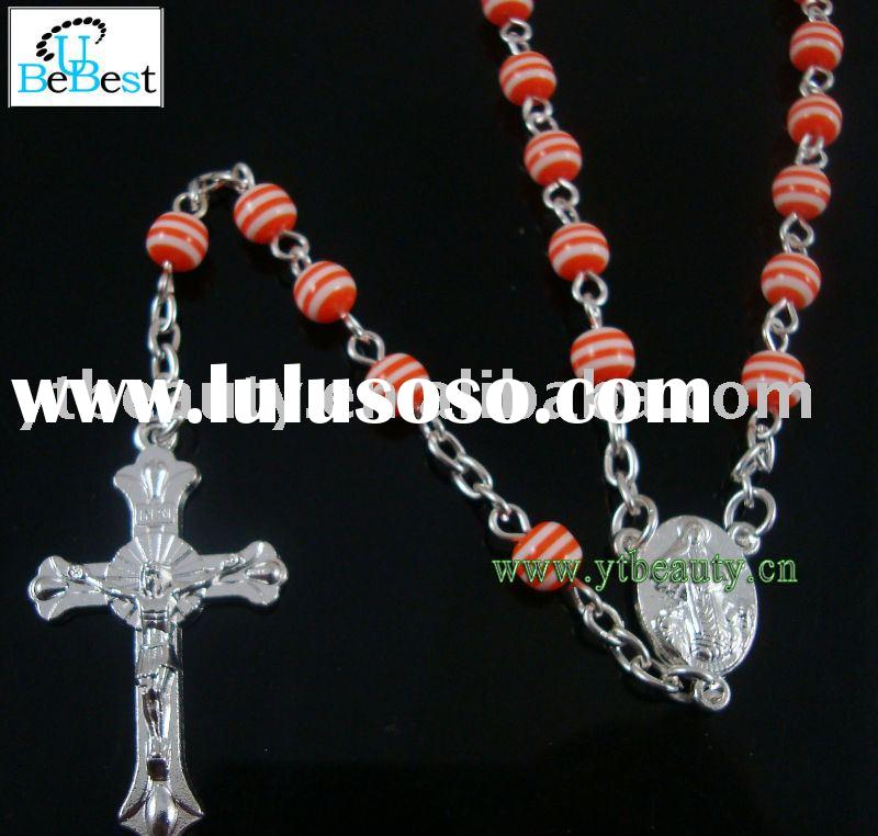 Red Catholic rosary necklace,Religious rosary