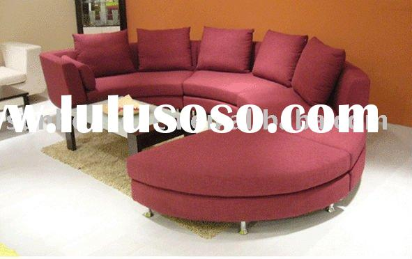 Circular Red Leather Livingroom Set Circular Red Leather