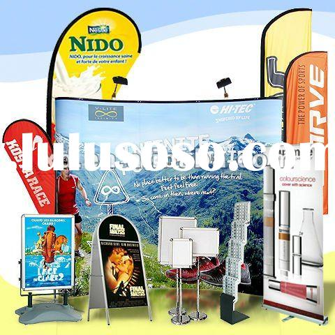 Roll up Banner Stand | Flying Banner | Beach Flag | Pop up Backdrop | Promotion Counter Table for Ex