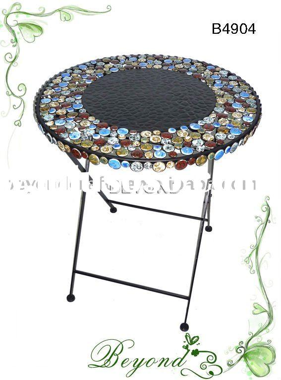 Round mosaic coffee table ,outdoor furniture