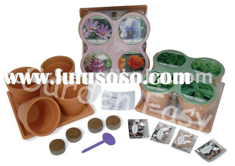 S/4 6.5 Inch Terracotta Planting Pot,Gift,Mini Pot,Terrocatto Pot,Flower Planter,Seed