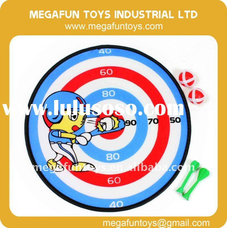 Safety Target Aim Velcro Ball Fabric Dart Board Set Kids Practice Toy paper dartboard YJ103