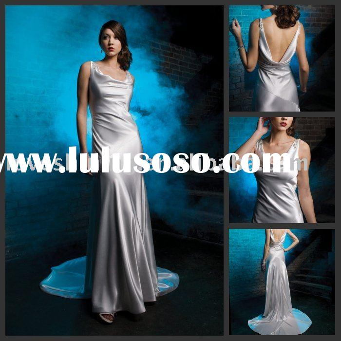 Satin A-line Wedding Dresses CC0004