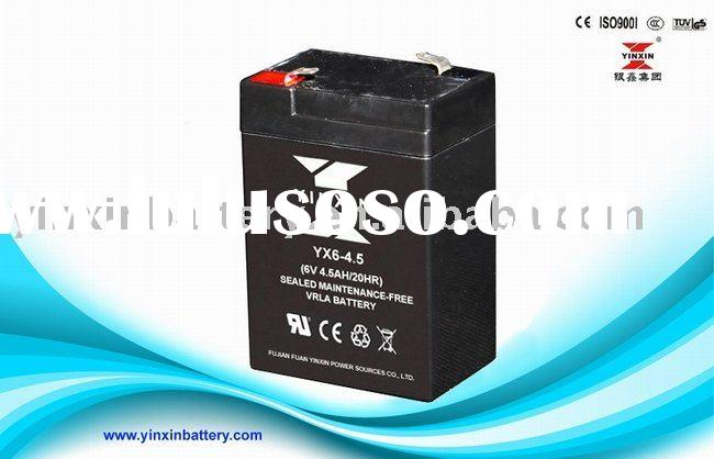 Sealed Lead-Acid Rechargeable Battery, MF battery,Emergency lighting battery (6V4.5Ah)