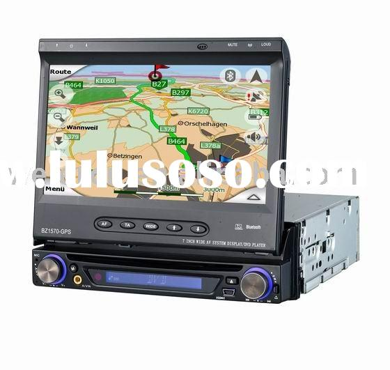 Single DIN car DVD player in dash with touch screenTV/IPOD//RDS/ Bluetooth/GPS/ USB port