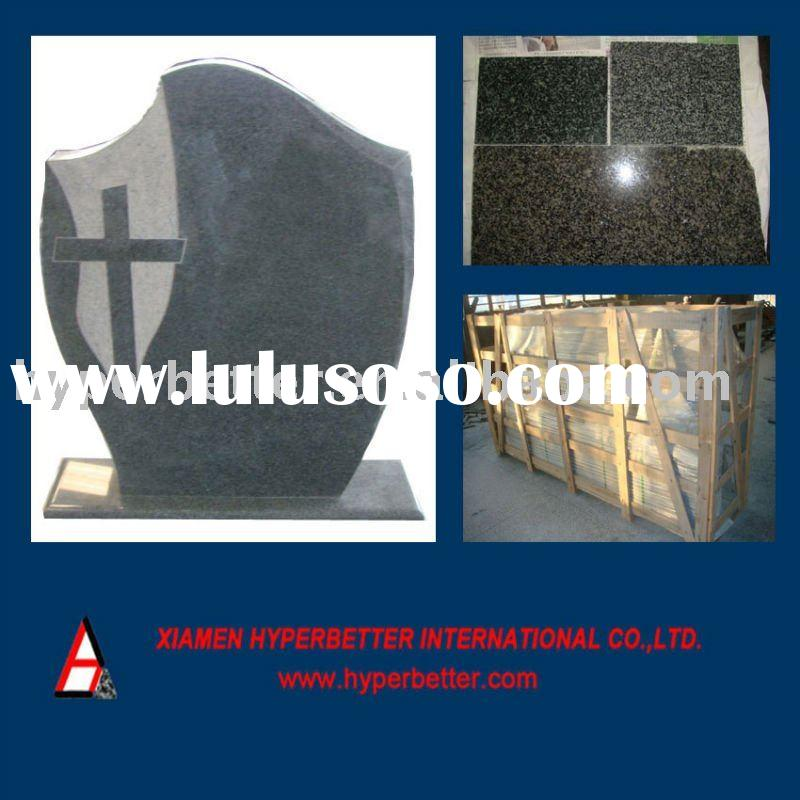 South africa black headstone,South africa black granite tombstones