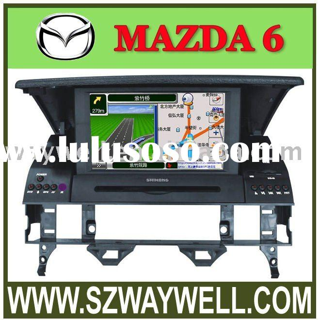 Special Car DVD player for MAZDA6 with built-in GPS navigation system and bluetooth
