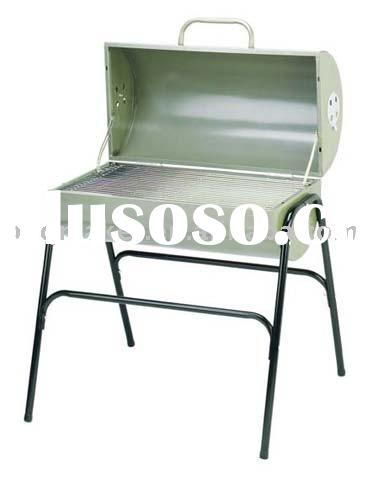 Stainless steel DRUM charcoal BBQ grill