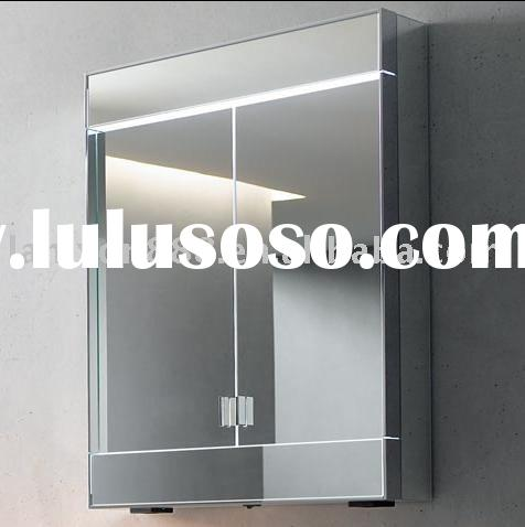 Stainless steel bathroom wall mirror cabinet