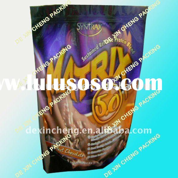 Stand Up Zipper Top Whey Protein Packaging Bag