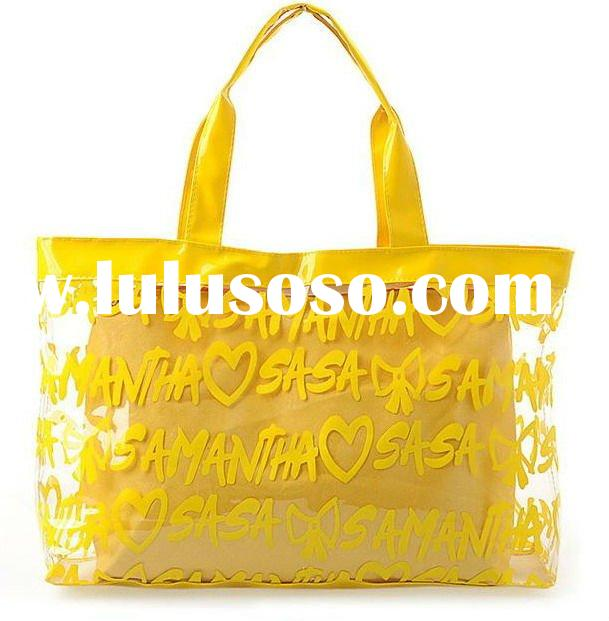 Stylish and perfect for summer trips transparent PVC beach bag