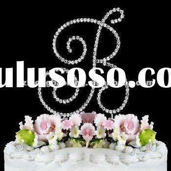 Swarovski Crystal Monogram Letter Wedding Cake Topper