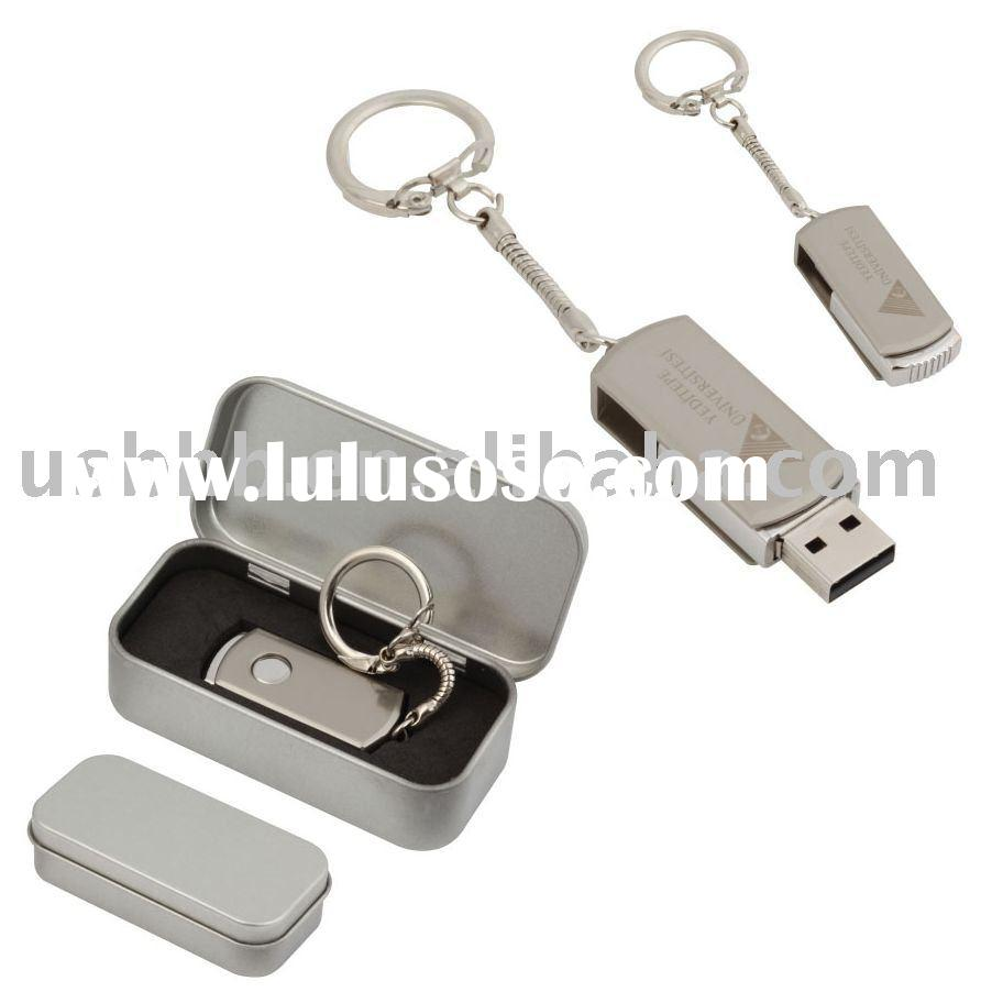 Swivel USB2.0 flash drive USB stick with Keychain
