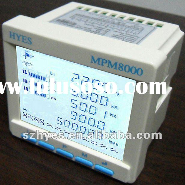 Three phase electronic energy meter with LCD display