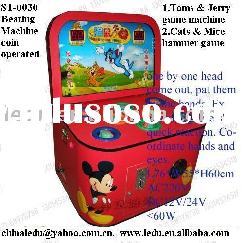 Tom and Jerry coin operated children hammer game machine