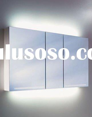 Two doors bathroom mirror cabinets with light