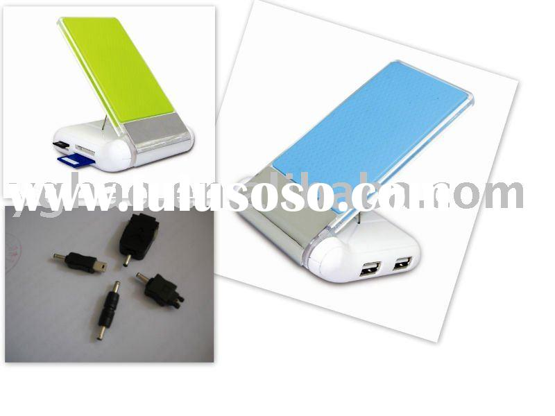 USB hub&Card reader with foldable mobile stand